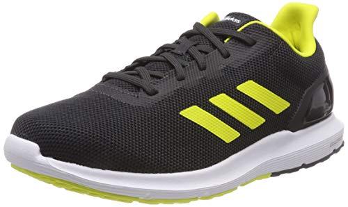 Adidas Cosmic 2, Zapatillas de Entrenamiento Hombre, Gris (Carbon/Shock Yellow/Core Black 0), 42 EU