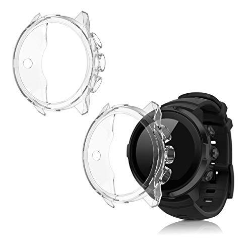 kwmobile 2 Pack de Fundas Compatible con Fitness Tracker Suunto 9/9 Baro/Spartan Sport Wrist HR - Case en Transparente