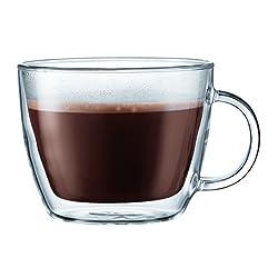 Bodum Bistro Cafe Latte Cup, Clear, 0.45 L 15 oz, (10608-10US)