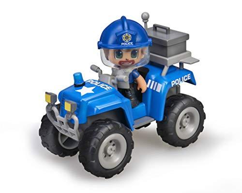 Pinypon Action - Quad con 1 Figura de policía para niños y niñas a Partir de 4 a 8 años, (Famosa 700015582)