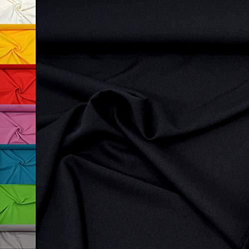 MAGAM-Stoffe 1m Mara Universal-Stoff uni Blickdicht Knitterarm Kostüm Tischdecken Dekostoff (24. Schwarz)