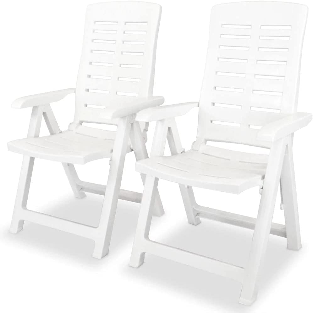 vidaXL 2X Al sold out. Reclining Garden Chairs Chair Outdoor store Out Bistro
