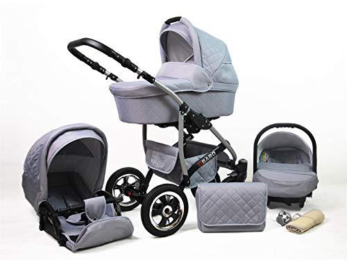 Poussette Combinée Trio landau 2en1 3en1 Isofix siège Auto Q-Step by SaintBaby Silver 2en1 sans siège bébé