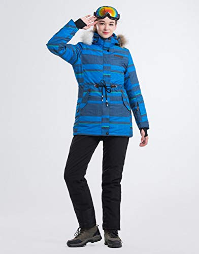 ski pak JSGJHXFLANLAKA NIEUW Merk Ski Suit Vrouwen Waterdichte Jacket Ski Jacket Broek Warm Lengthen 5 Kleur Optionele Ski Suits Vrouw