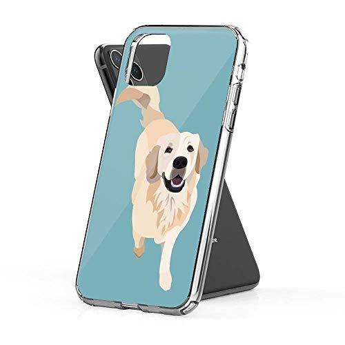 Compatible con iPhone 12/12 Pro MAX 12 Mini 11 Pro MAX SE X XS MAX XR 8 7 6 6s Plus Funda-Golden Retriever Doggo Fundas de teléfono Pure Clear con protección a Prueba de Golpes