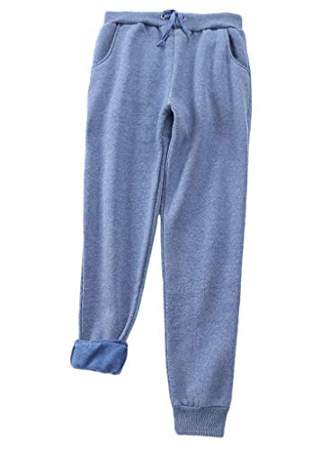 Best Deals! Andongnywell Womens Warm Sherpa Lined Athletic Sweatpants Drawstring Joggers Fleece Pant...