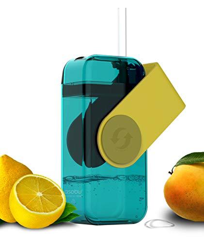 ASOBU Juicy Drink Box Die ultimative unzerbrechliche Wiederverwendbare 283,5Wasser Flasche für Kinder
