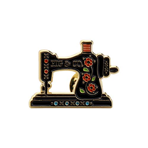 SEIRAA Sewing Machine Seamstress Gift Cartoon Sewing Machine Shaped Enamel Brooch Gift for Costume Designer (Sewing Machine Brooch)