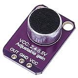 Módulo Amplificador de Micrófono de 2.4V a 5.5V, MAX4466 Excelente Fuente de Alimentación Rechazo de Ruido Micrófono Preamplificador Sensor de Sonido