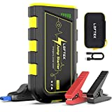 LOFTEK Car Jump Starter, 1000Amp Peak Lithium Jump Box for up to 7L Gas and 5.5L Diesel Engines, 12V Auto Portable Battery Booster Pack with USB Quick Charge & LED Light for Car Truck Boat,Yellow