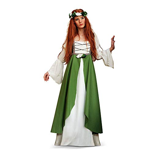 Limit médiéval Hortensia Costume (2 x L, Vert)