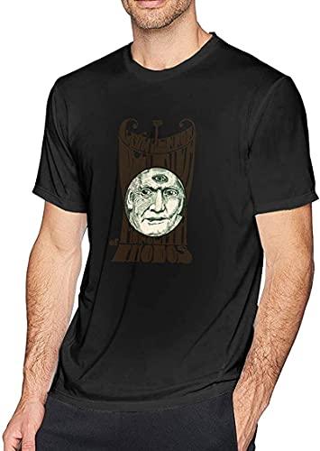 light Saber DUN CoolCotton Herren Kurzarm T-Shirt Claypool Lennon Delirium Art Rundhals Kurzarm T-Shirt Korean Vers, Schwarz , L