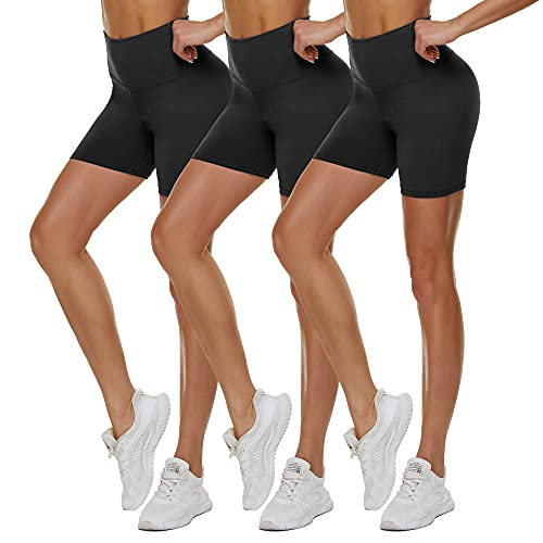 TNNZEET 3 Pack High Waisted Biker Shorts for Women – 5'...