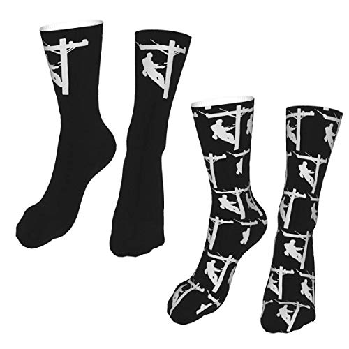 Cable eléctrico Lineman regalo Unisex 2 calcetines de tubo calcetines de tubo...