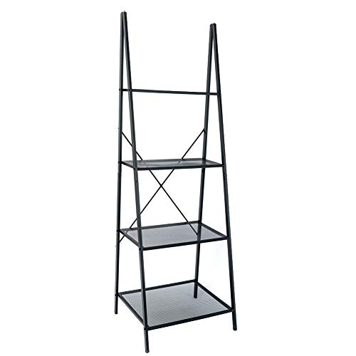 C-Hopetree Ladder Shelf - Outdoor Plant Stand - A-Frame Bookshelf - Metal Frame