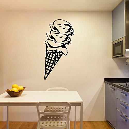 JXMN Excelente Helado Papel Tapiz de Vinilo calcomanías de Arte Cocina habitación Helado Pegatinas de Pared decoración de la Ventana 60x120 cm