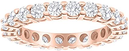 2 Carat ctw 14K Rose Gold Round Diamond Ladies Eternity Wedding Anniversary Stackable Ring Band product image