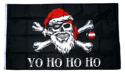 Flagge / Fahne Pirat - Weihnachten Yo Ho 90 x 150 cm