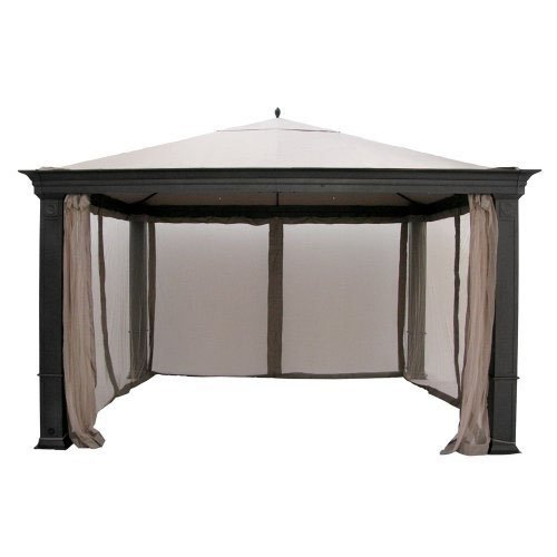 Garden Winds Replacement Canopy Top Cover for Tiverton Series 3 Gazebo - Riplock 350 - Beige
