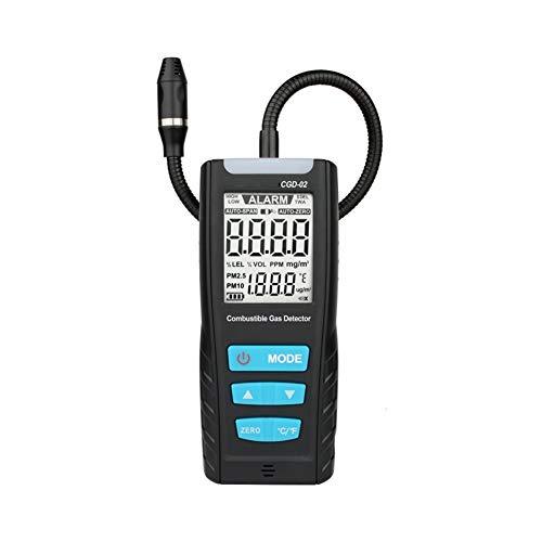 Detector de Fugas de la Calidad del Aire del Detector del Sensor LCD Analizador de Gas Medidor de automoción de Gas Combustible Monitor de Gas con Sonido de Alarma de Choque
