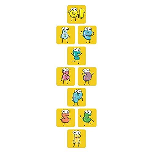 10 peças de jogo de amarelinha com número fofo adesivo de piso de grade Grade de adesivos de parede de decoração de piso