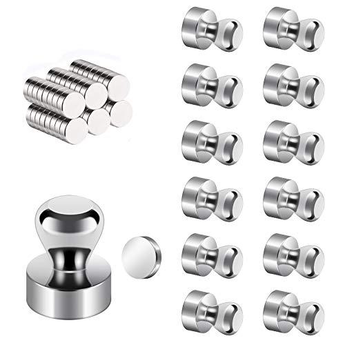 62 Stück Magnettafel Magnete Set - Supermagnete aus Edelstahl, Mini-Multifunktions Magnete für Magnettafel, Nadelbrett, Whiteboards, Kühlschränke - mit Aufbewahrungs Box