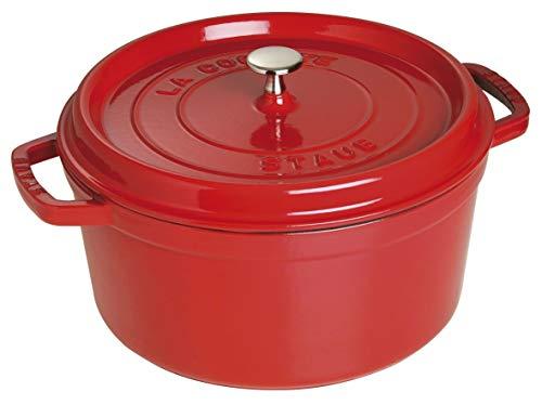 STAUB Cocotte en Fonte, Ronde 28 cm, 6,7 L, Rouge Cerise