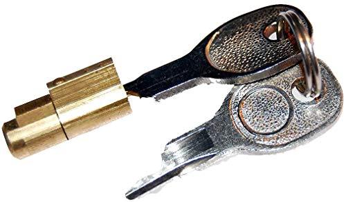 Steckschloss passend für AL-KO AK7 AK10/2 AK251 AK252 Zugkugelkupplung mit 2 Schlüssel