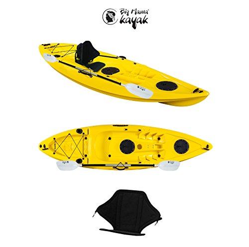 Ainoa fishing big mama kayak - canoa 295 cm + 2 gavoni + 4 portacanne + pagaia 220 cm + seggiolino
