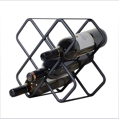 Estante De Vino De Encimera, Almacenamiento De Vinos, Sin Conjunto Requerido-Metal Metal DE Metal Entrenamiento DE METAMIENTO DE Metal DE METARIO DE VINOS DE VINOS DE Vino