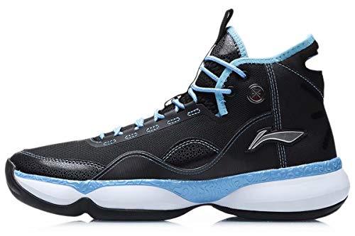 LI-NING Wade Shadow On Court Herren Basketballschuhe Kissen Tragbares Futter Cloud Sport Schuhe Fitness Sneakers ABPQ007, (Wow Shadow 2 Black), 39.5 EU