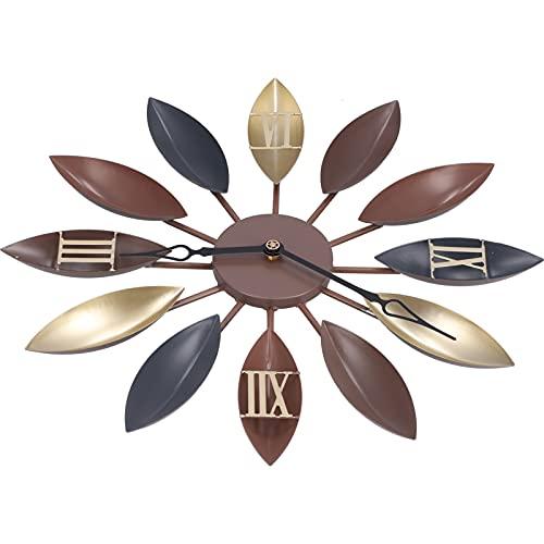 SALALIS Elegante Reloj Retro, Efectos Visuales Reloj De Pared Decorativo Mejorado Elegante Y Hermoso con Un Diseño único para La Decoración del Restaurante para La Decoración De La Sala De Estar