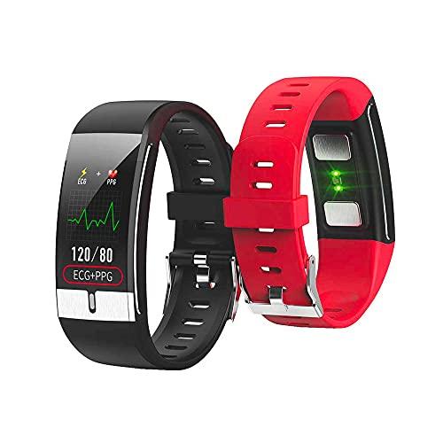Smartwatch THM24 - Activity Tracker da Polso Waterproof con Schermo Touch e Cinturino Regolabile - Compatibile con iOS e Android - Batteria a Ricarica Rapida e a Lunga Durata - Colore Nero