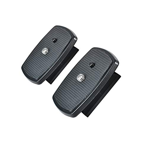 Ruittos Quick Release Plate,2Packs QR Tripod Plate Compatible with Amazon Basics 60