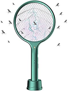 Mosquito Killer,4 in 1 Fly Swatter Racket Bug Zapper,Auto-On UV Light Attract to Zap Flying Insects,Indoor Outdoor Pest Co...