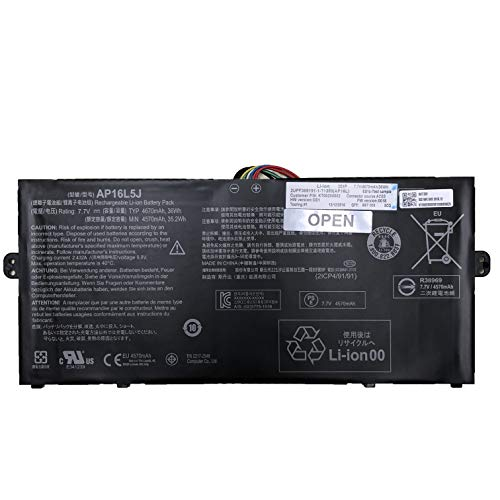 7xinbox 7.7V 36Wh 4670mAh AP16L5J Replacement Laptop Battery for Acer Aspire Swift 5 SF514-52T Spin 1 SP111-32N 2ICP4/91/91