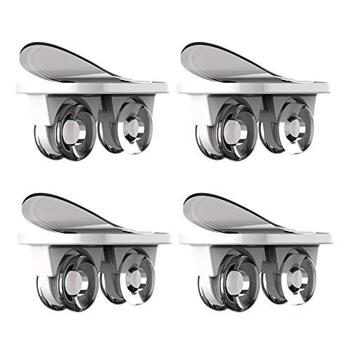 SODIAL Caja de Almacenamiento Autoadhesiva con Ruedas Direccionales con Ruedas Adhesivas de 4 Piezas Polea Mueble Universal Rueda para Mover - Blanco