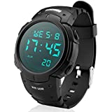 Men's Digital Sports Watch LED Screen Large...
