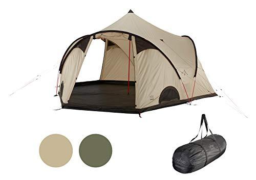 Grand Canyon BLACK KNOB 10 - tente de groupe style tipi pour 10 personnes | Tente familiale, tente de groupe, tente pyramide, tente tipi | Désert de Mojave (beige)