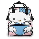 Bolsa de pañales-azul gatito mami, multifunción gran capacidad viaje mochila pañal bolsa
