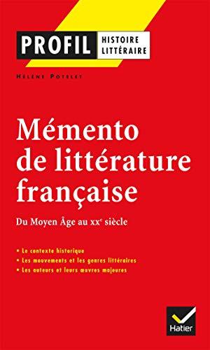 Mémento De Littérature Française