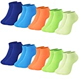 L&K 10 paia II Calze da Uomo Donna sportive Sneaker Calzini Cotone comodo Unisex 2102 43-46