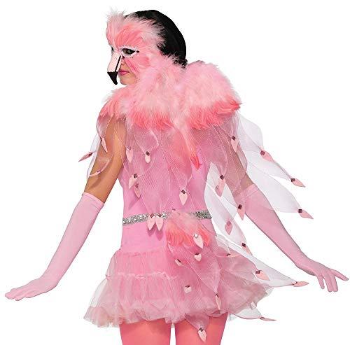 shoperama Rosa Flügel für Flamingo-Kostüm Federn Zubehör Accessoire Kostümzubehör Pink