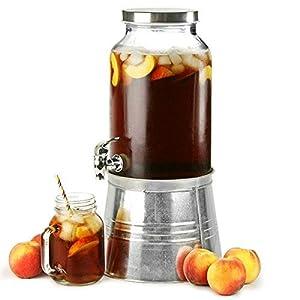 Weckglas Getränkespender mit Eiskübel Ständer 176 Unzen / 5Ltr – Wein & Sektkühlerständer | bar@drinkstuff Weckglas Getränkezufuhr, Saftspender, Cocktail Dispenser