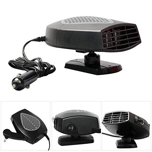 MASO - Calefactor portátil para coche (12 V, 150 W, alta potencia, para coche, parabrisas, calentamiento rápido, descongelador de ventilador para fácil extracción de nieve)