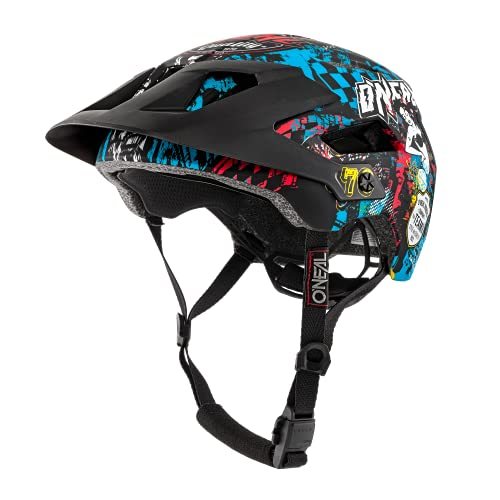 O'NEAL | Casco para Bicicleta de montaña | Enduro All-Mountain | Rejillas de ventilación, Almohadillas Lavables, Norma de Seguridad EN1078 | Casco Defender Wild | Adultos | Multi | Talla XS/M