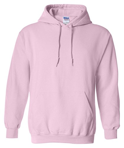Gildan Men's Heavy Blend Hooded Sweatshirt Light Pink XL