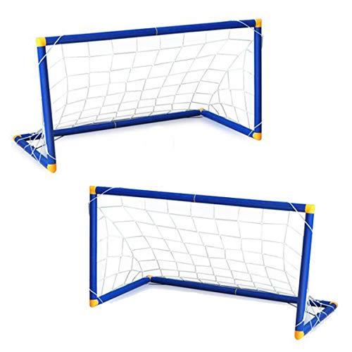 JANOON 2PC Kids Football Goal Posts and Net - Indoor or Outdoor by Crystals