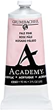 Grumbacher Academy Acrylic Paint, 90ml/3 oz Metal Tube, Pale Pink