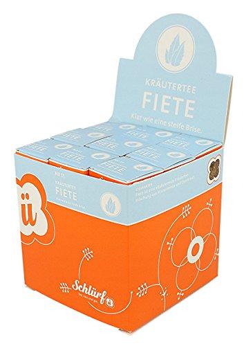 Schlürf Schlürfel Bio Kräuter Tee   Fiete No. 11   1 Display mit 27 Teebeutel Würfel  Tee Box   Kräutertee im Pyramidenbeutel einzeln verpackt   67,5 g